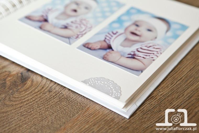 album ręcznie robiony handmade do sesji niemowlęcej