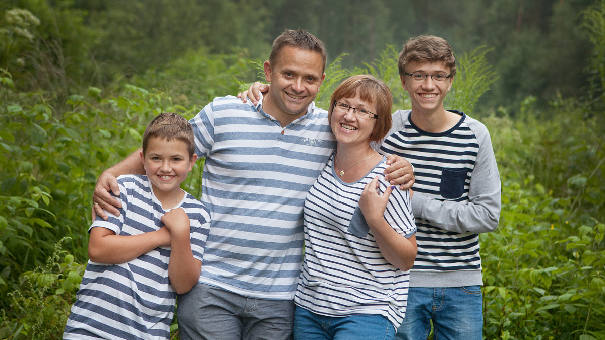 Plenerowa sesja rodzinna