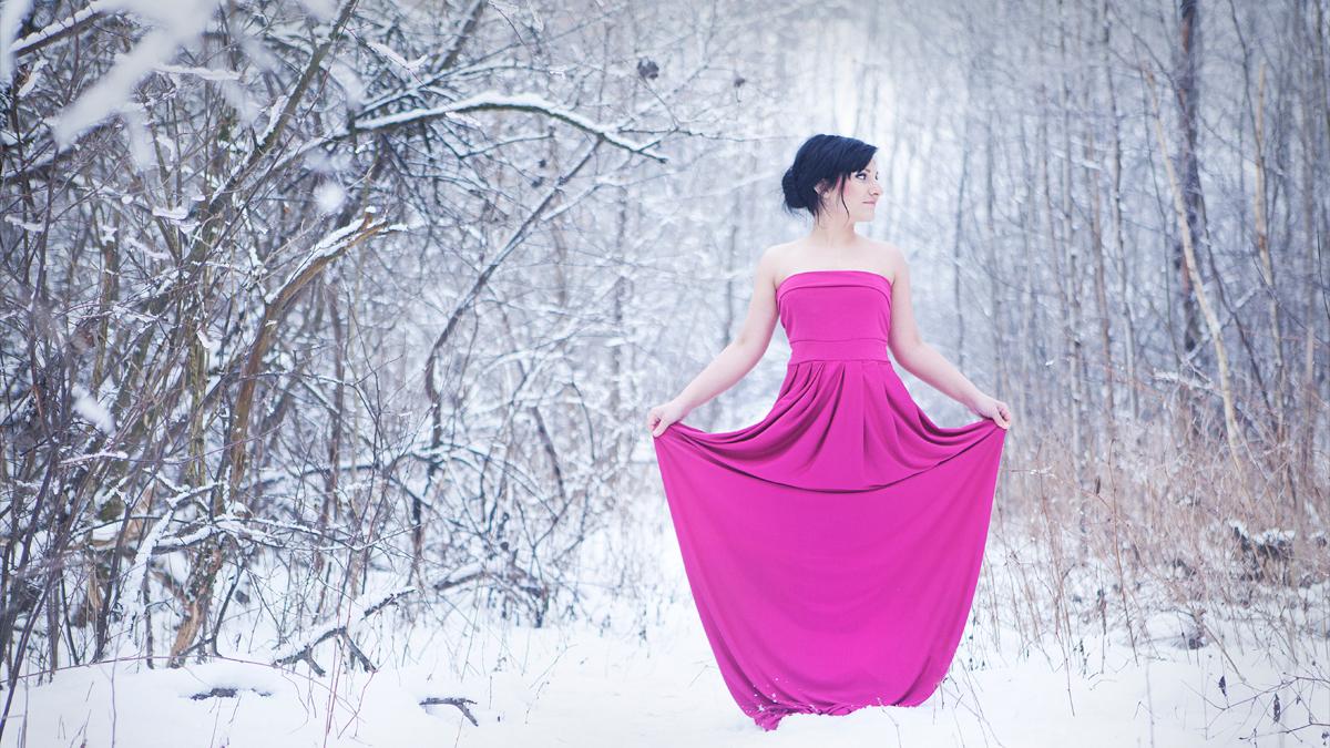 Zimowa sesja portretowa Magdy