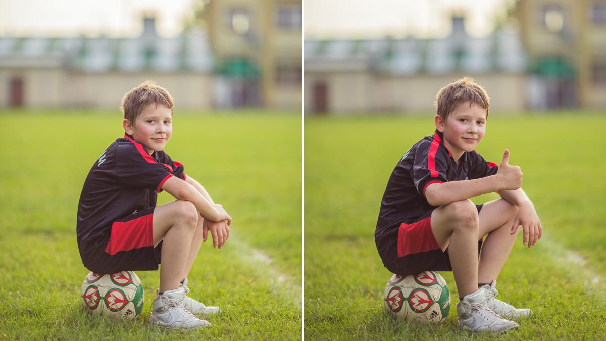 Michał – młody piłkarz