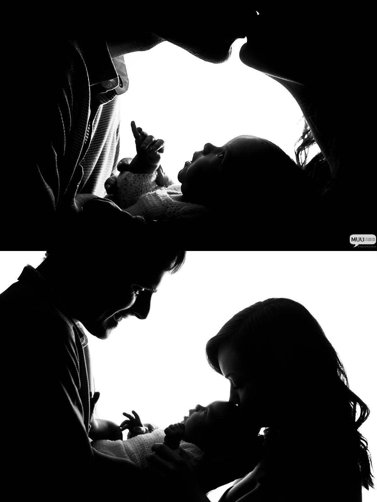 zdjęcia noworodka w studio