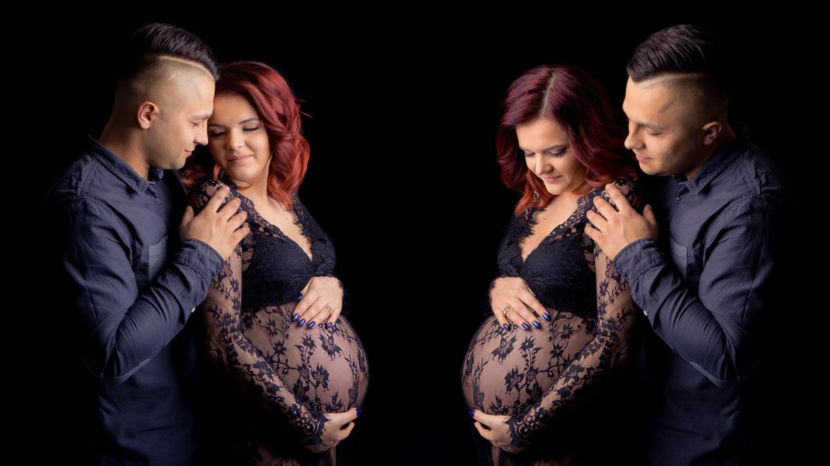 Paulina i Adrian – sesja ciążowa w studio