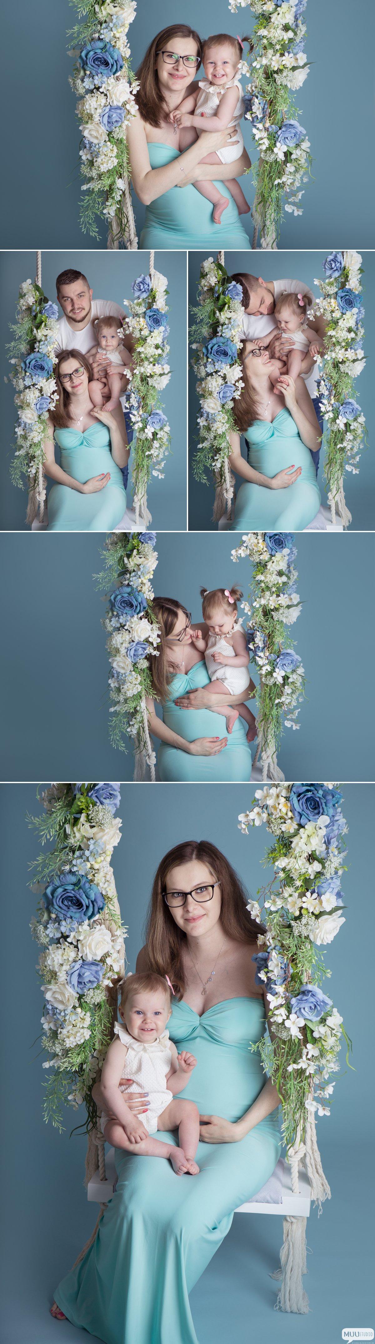 rodzinna sesja ciążowa zawiercie