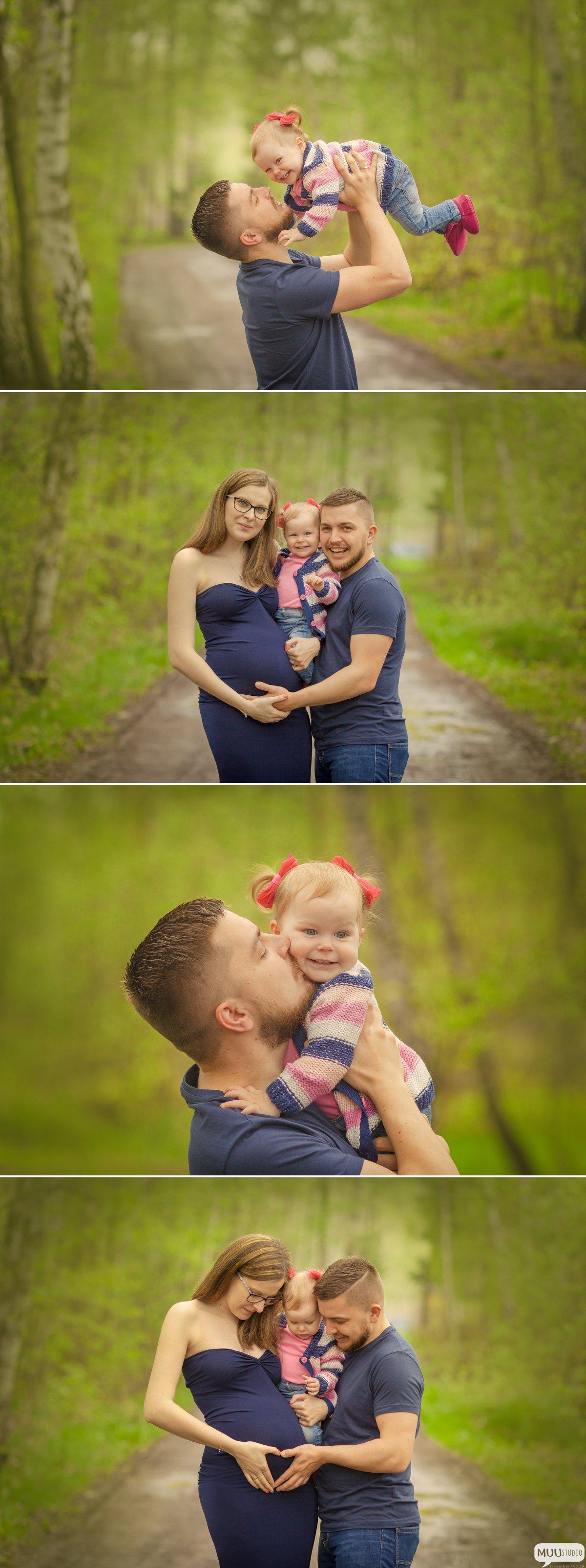 rodzinno ciążowa sesja w plenerze