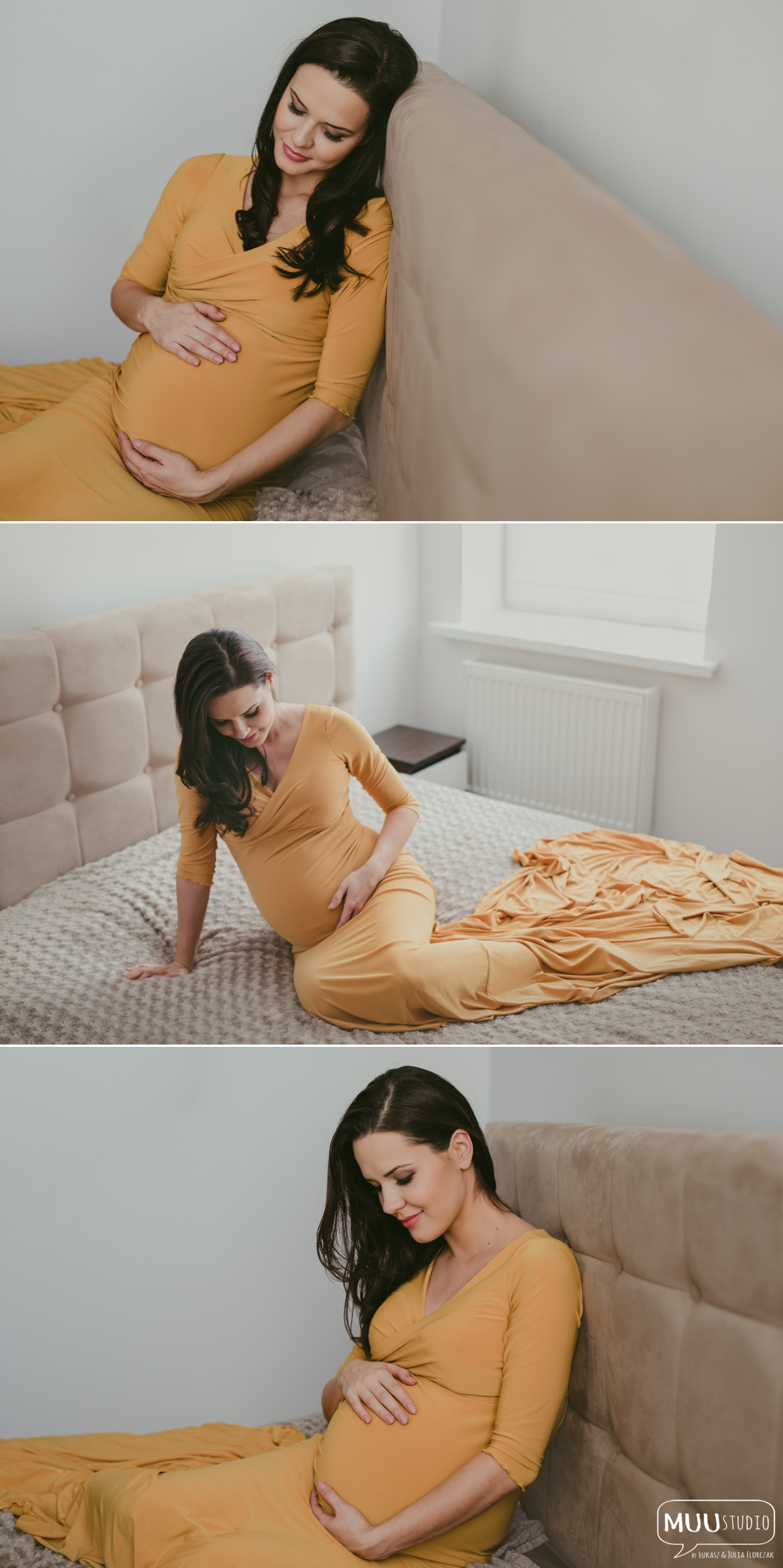 naturalna sesja ciążowa w domu Koszalin
