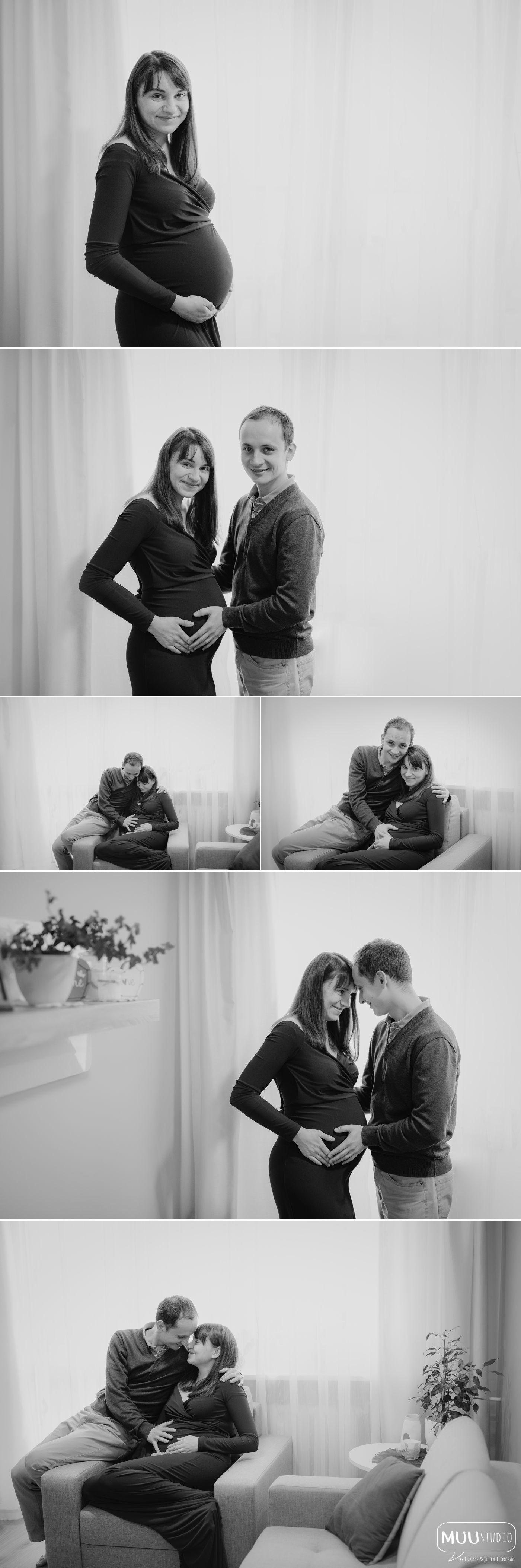 Sesja ciążowa w domu Koszalin