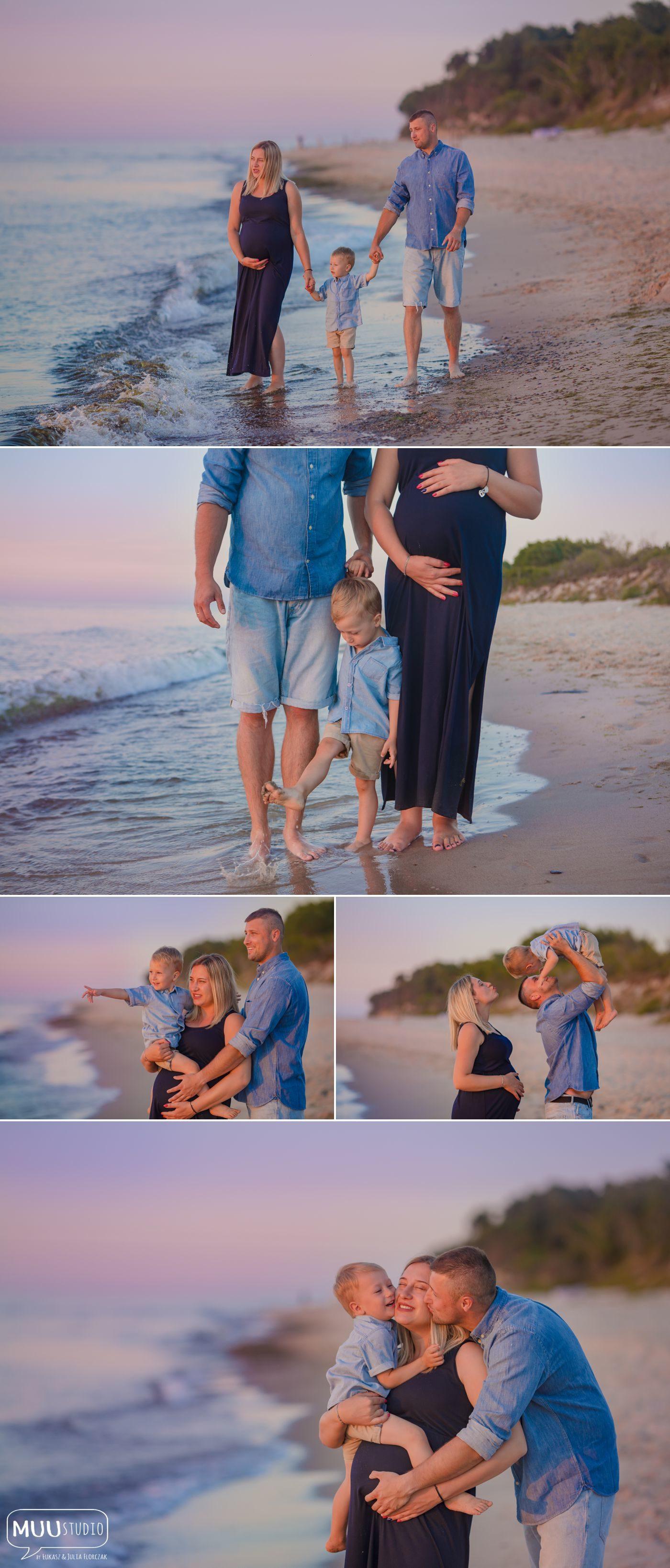sesja ciążowa nad morzem
