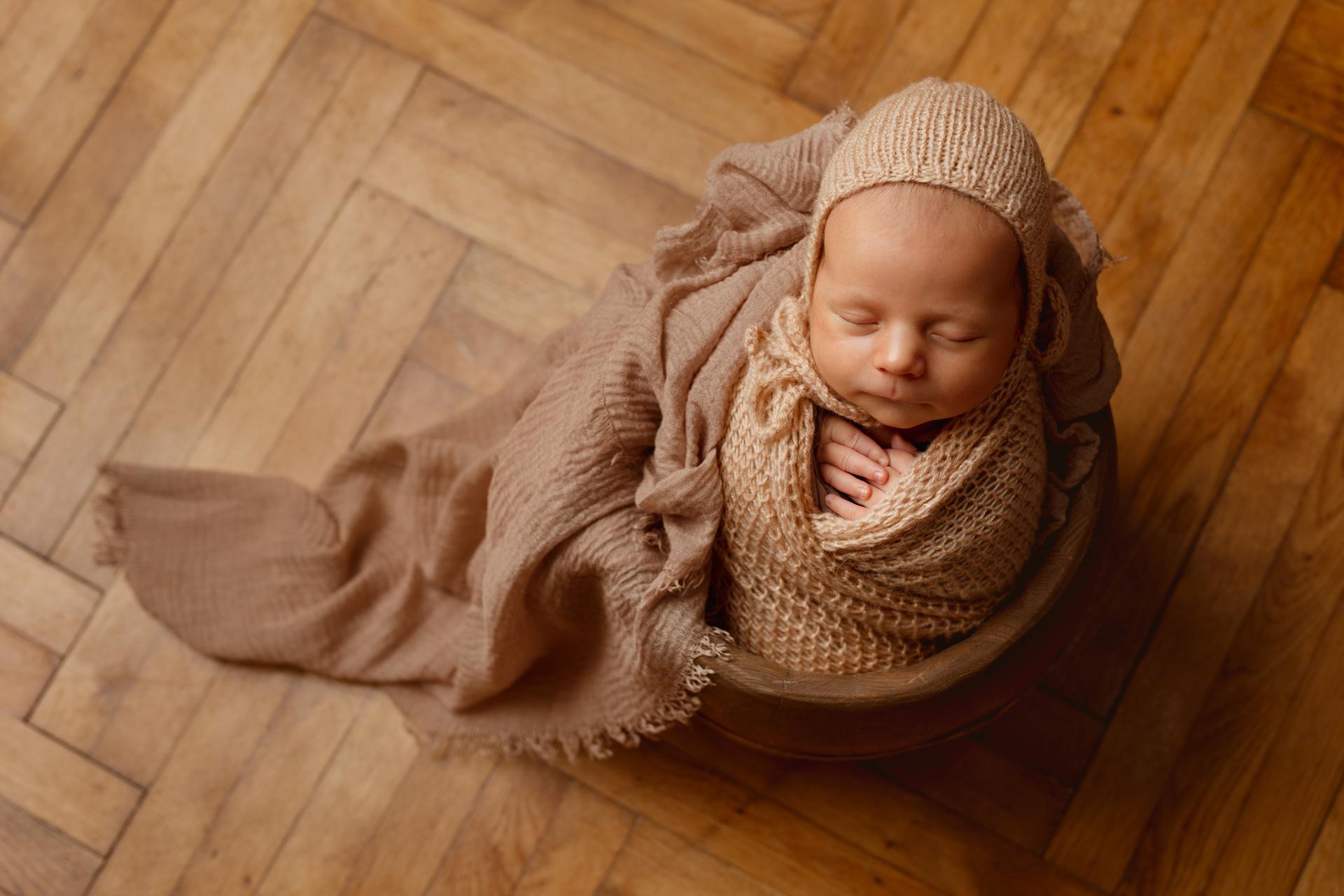 Ignacy – sesja noworodkowa w studio