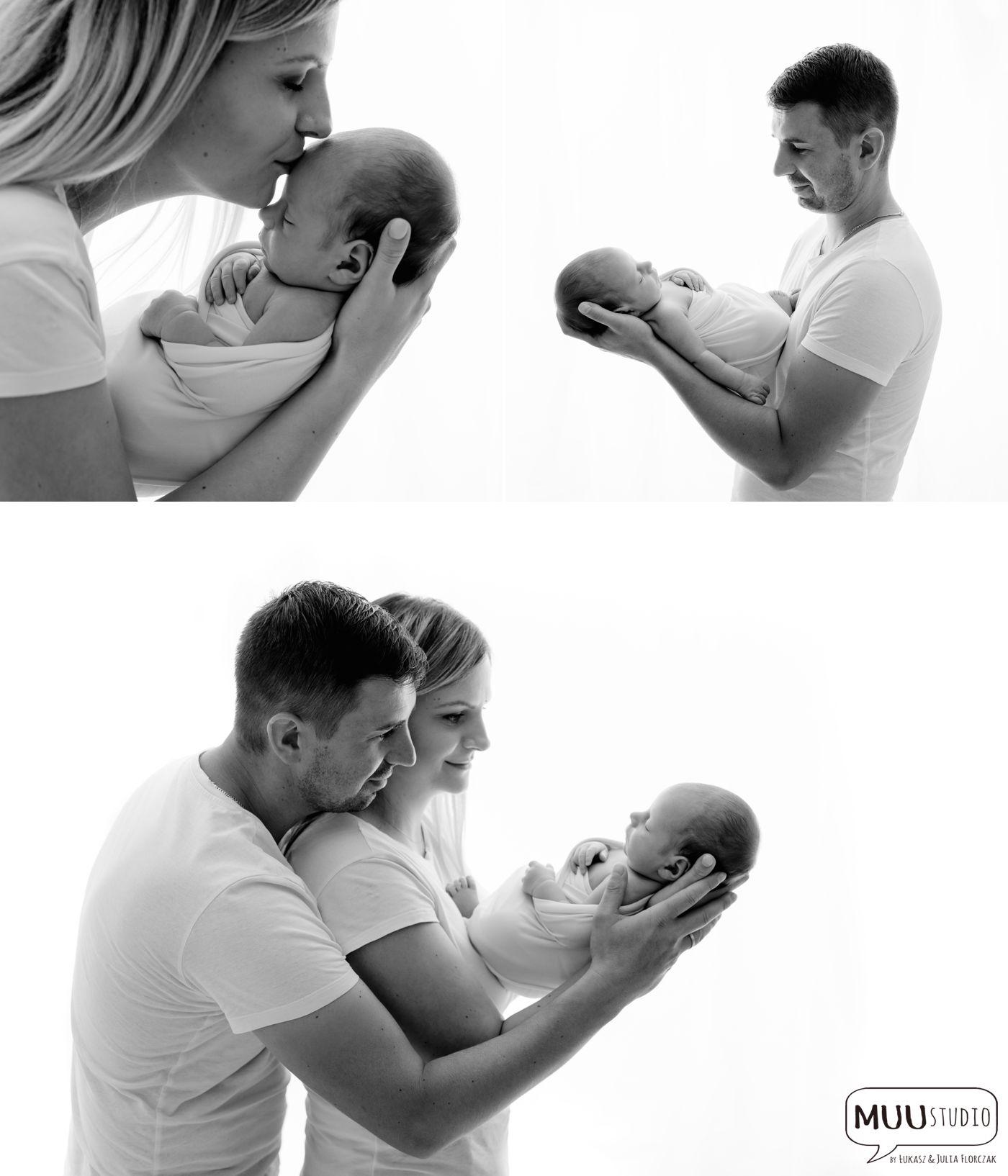 zdjęcia noworodkowe naturalne z rodzicami